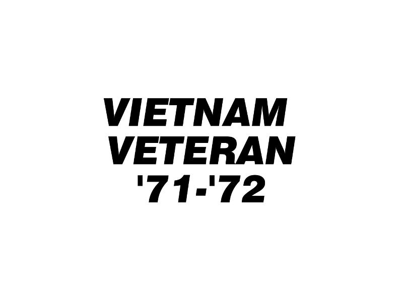 VIET VET '71-'72 Vinyl Decal
