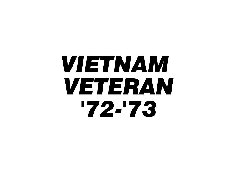 VIET VET '72-'73 Vinyl Decal