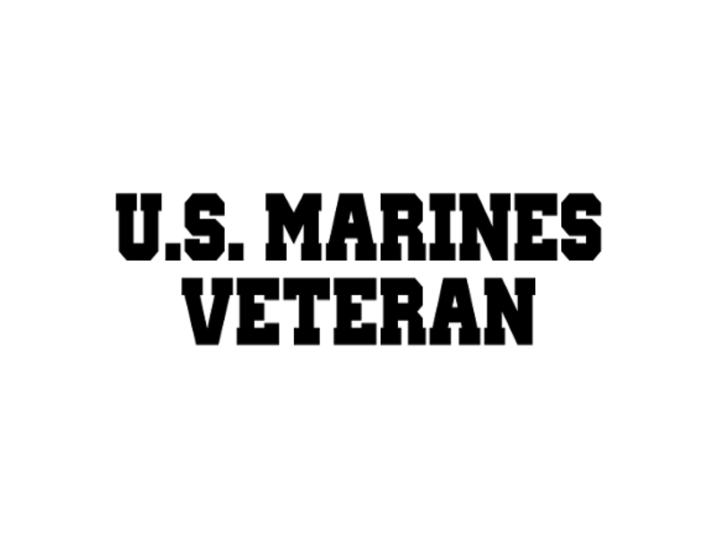 MARINES VET VINYL DECAL