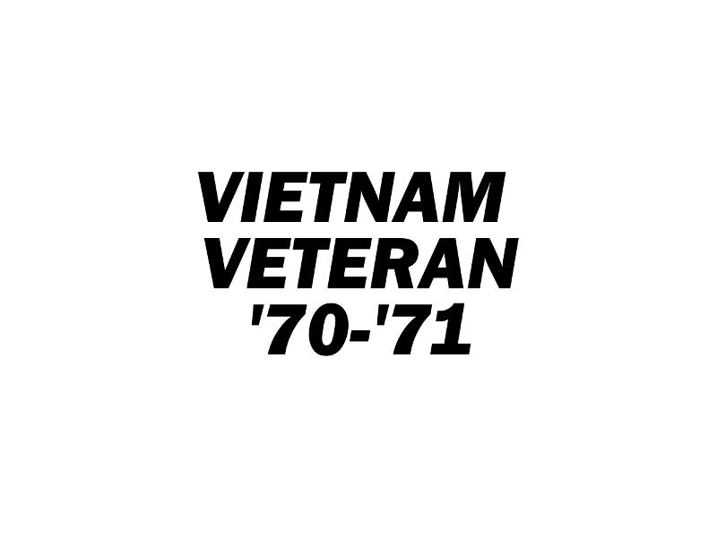 VIET VET '70-'71 Vinyl Decal