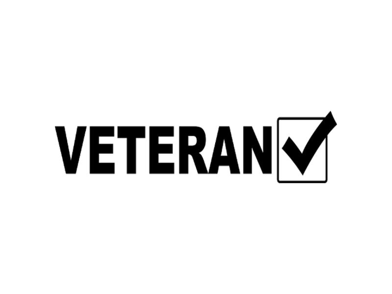 Veteran Checked Vinyl Military Decal