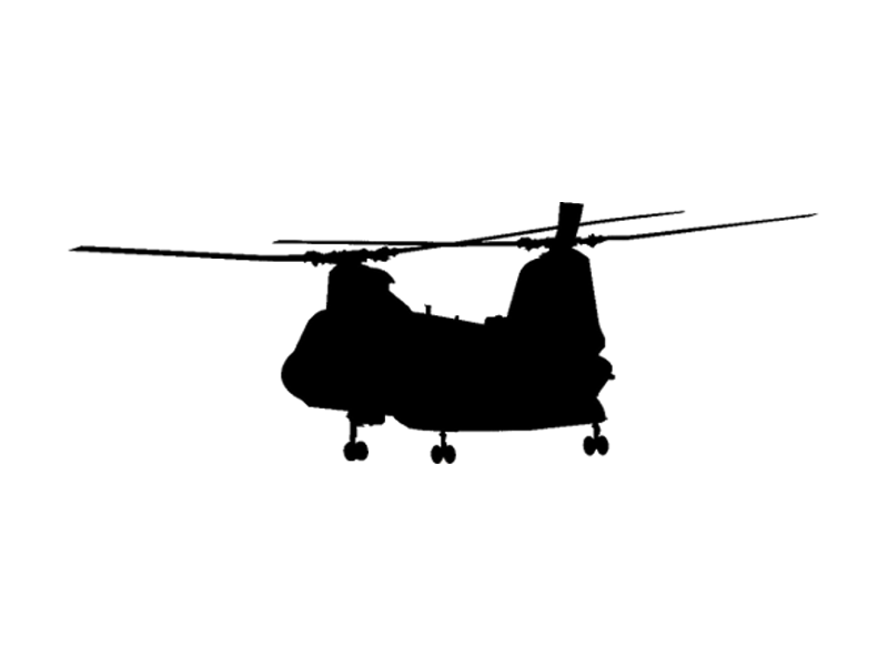 Chinook Military Decal