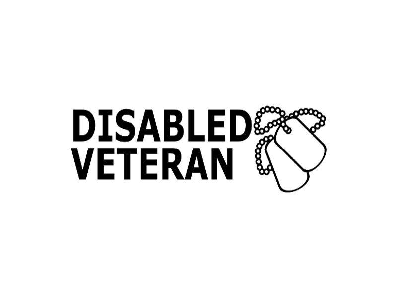 Disabled Veteran Vinyl Window Decal