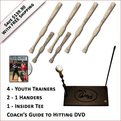 4 Youth Trainers, 2 - 1 Handers, Insider Tee & Coach's Guide to Hitting DVD