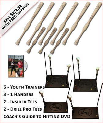 6 Youth Trainers, 3 - 1 Handers, 2-Insider Tees, 2 - Drill Pro Tees & Coach's Guide to Hitting DVD