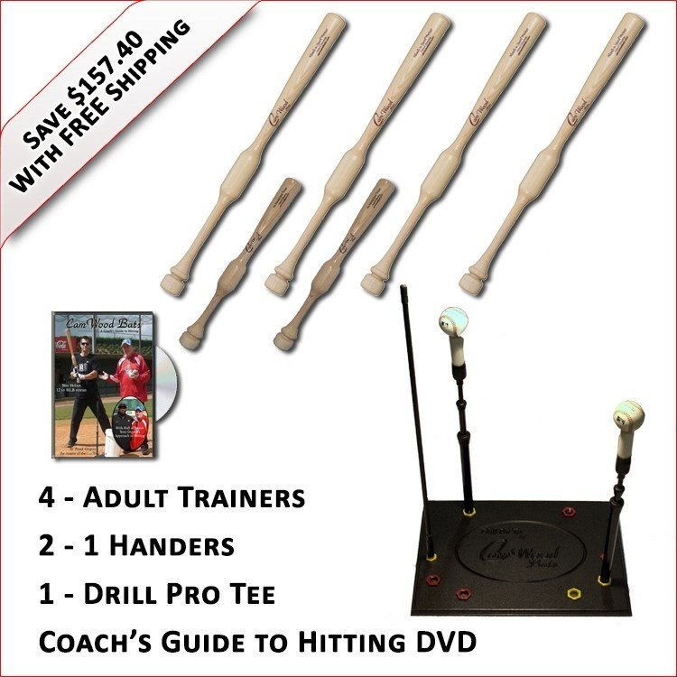 4 Trainers, 2 - 1 Handers, Pro Drill Tee & Coach's Guide to Hitting DVD