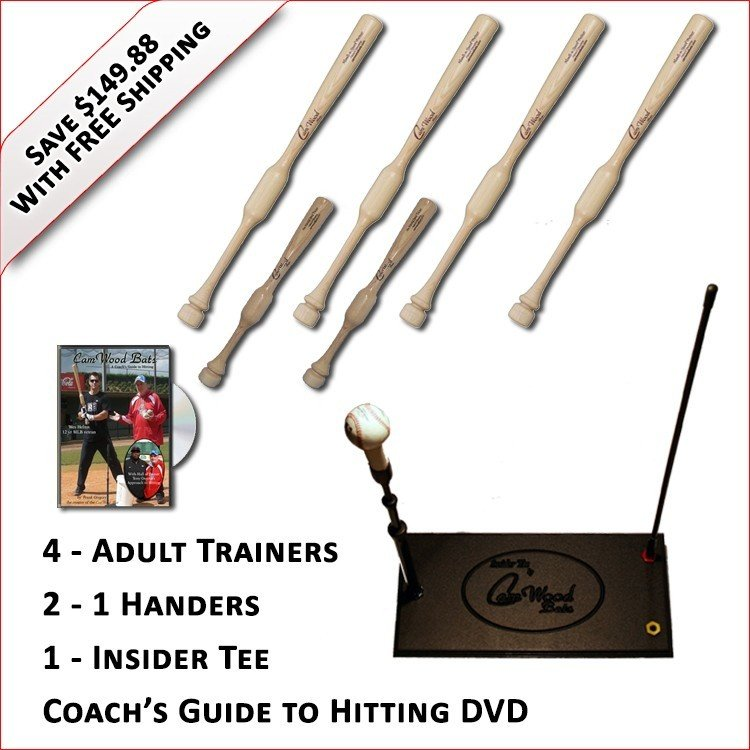 4 Adult Trainers, 2 - 1 Handers, Insider Tee & Coach's Guide to Hitting DVD