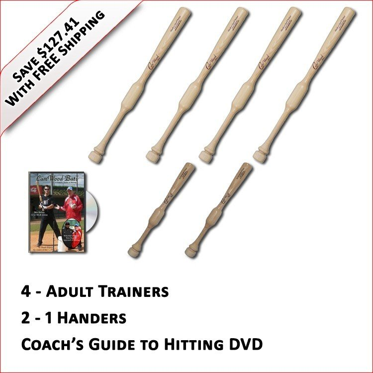 4 Trainers, 2 - 1 Handers, & Coach's Guide to Hitting DVD