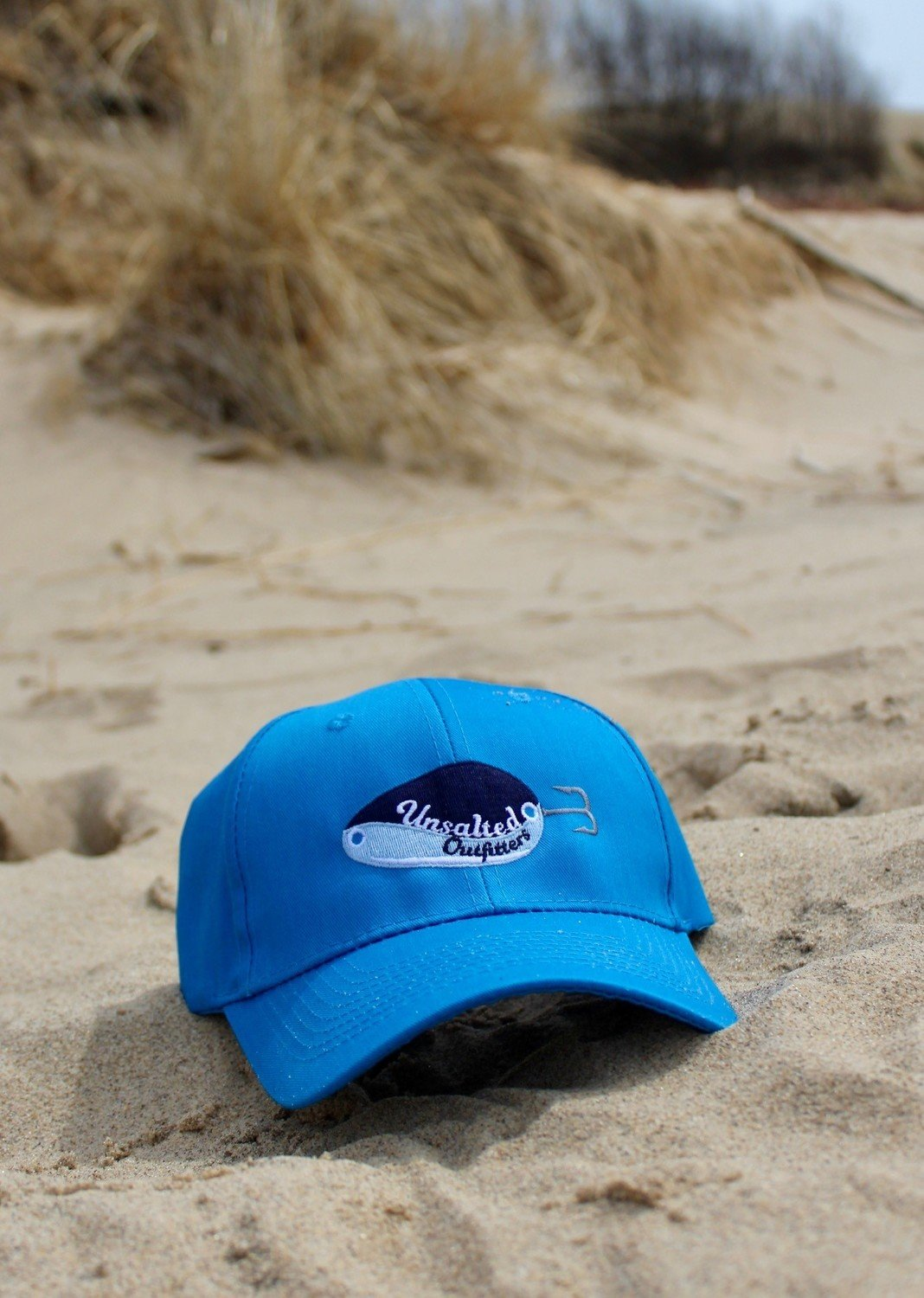 Embroidered Ocean Blue Tall Hat