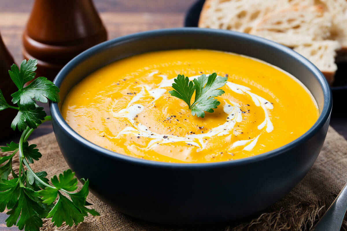Сливочный суп-пюре из тыквы(250 гр)
