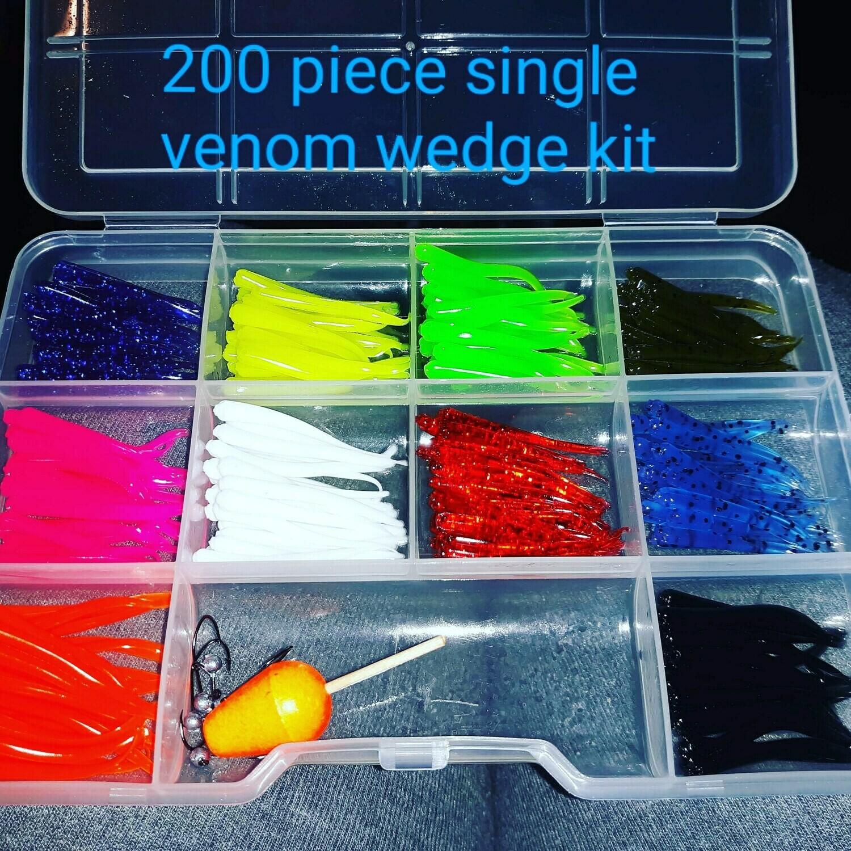 "1""  Venom tail Singles 200 pieces"