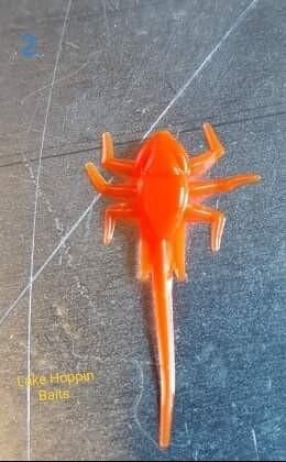 "1"" ice Nymphs  12  blazin orange"
