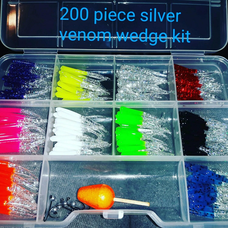 "1.5"" 200 piece venom tail Silver Series"
