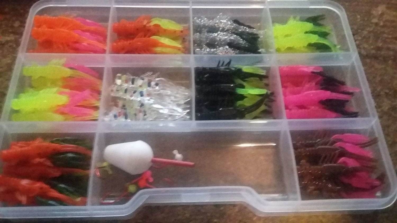 "​80 piece 1.35"" Crappie Claws Crayfish Doubles Kit"
