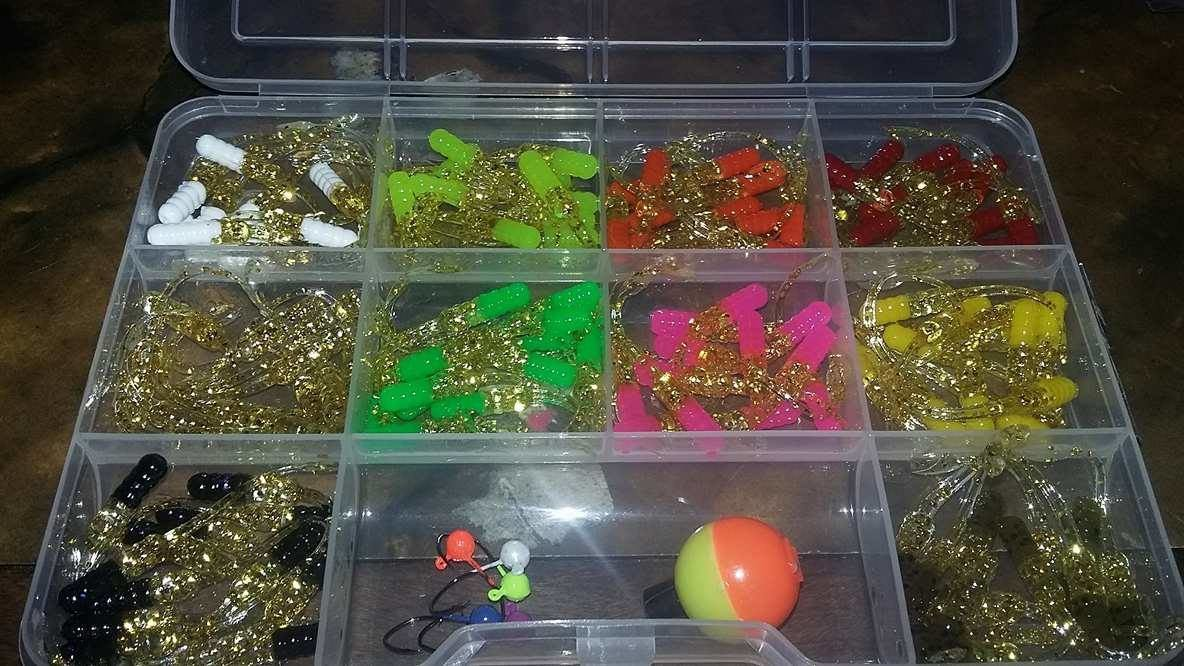 "120 piece 2"" Nummy tail gold series kit"