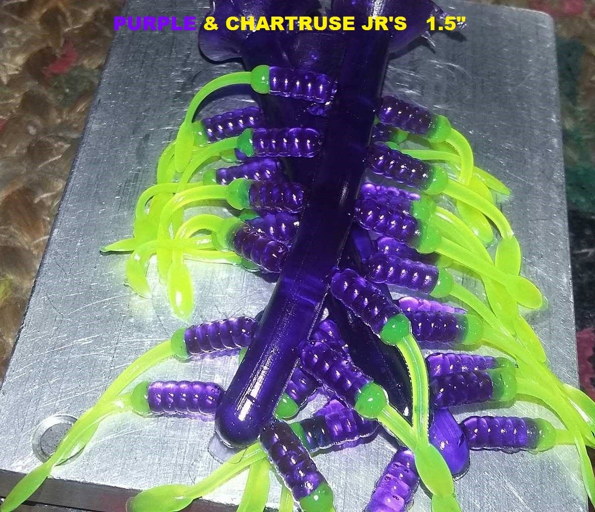 "1.5"" Nummy Jr  Purple & Blinding chartruse  12 per pk"