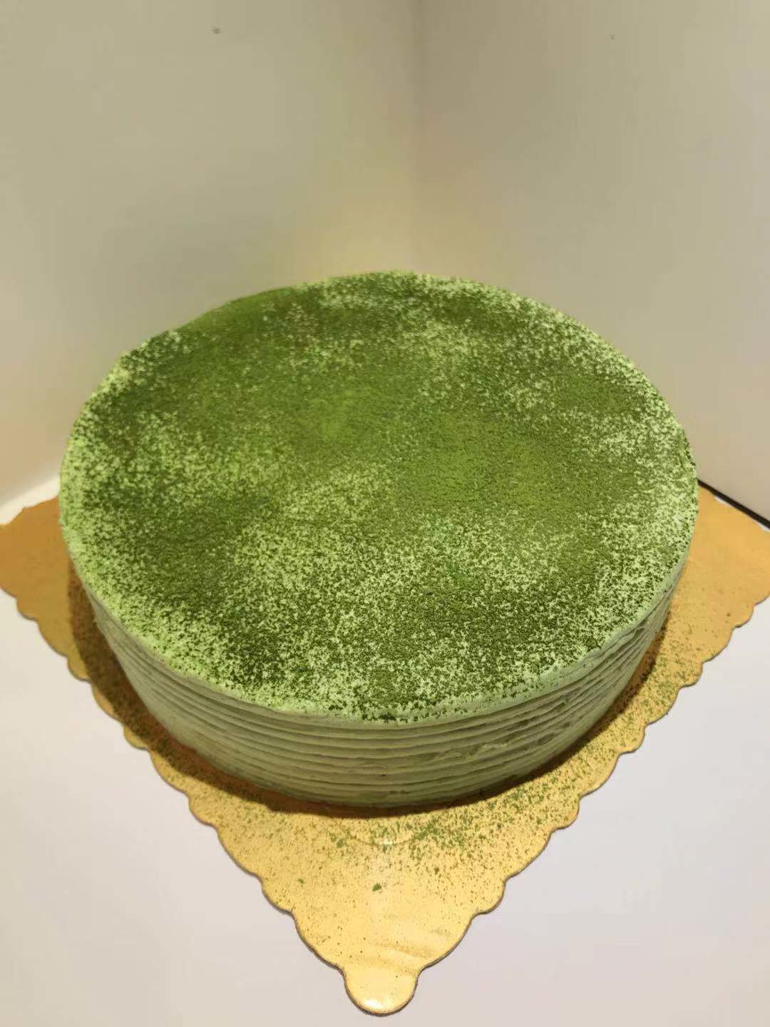 Matcha Crepe Cake 6 inch (also available in 8 and 10 inch)