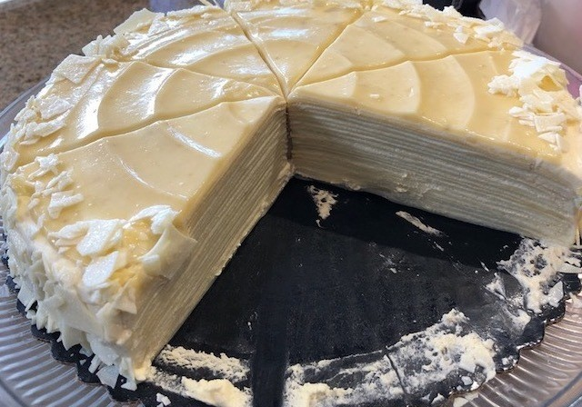 Vanilla Crepe Cake 6 inch (8 and 10 inch also available)