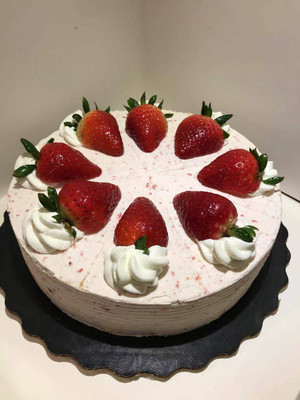 Strawberry Crepe Cake 6 inch (8 and 10 inch also available)