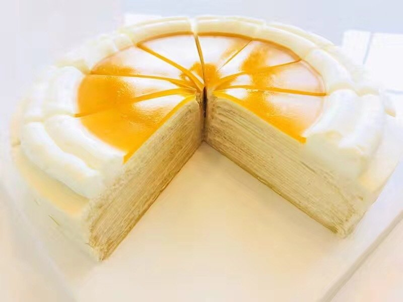 Mango Crepe Cake 6 inch (8 and 10 inch also available)