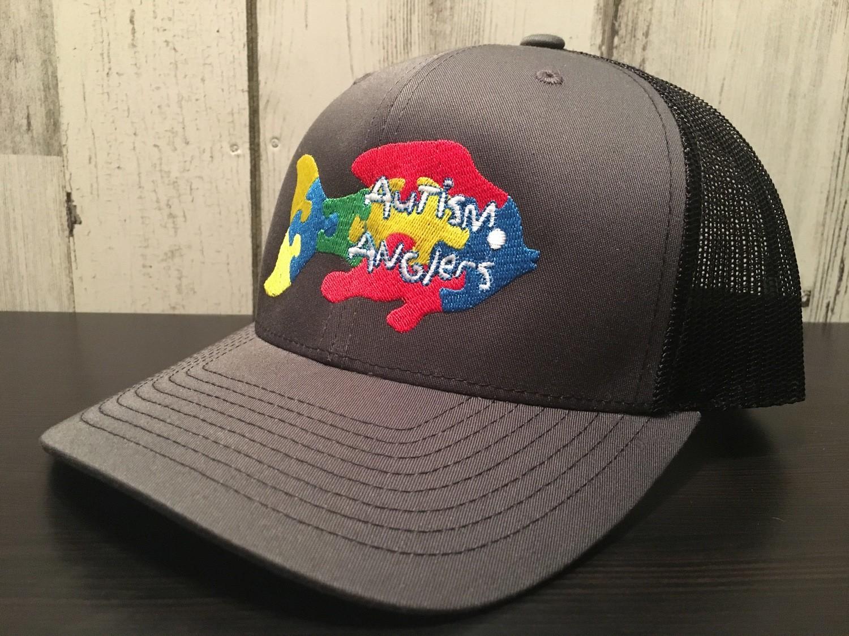 Autism Anglers Snap Back Hat-Black back