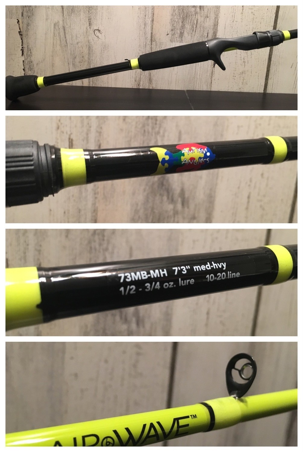 Autism Anglers Casting Rod: Yellow - Med/Hvy - SALE