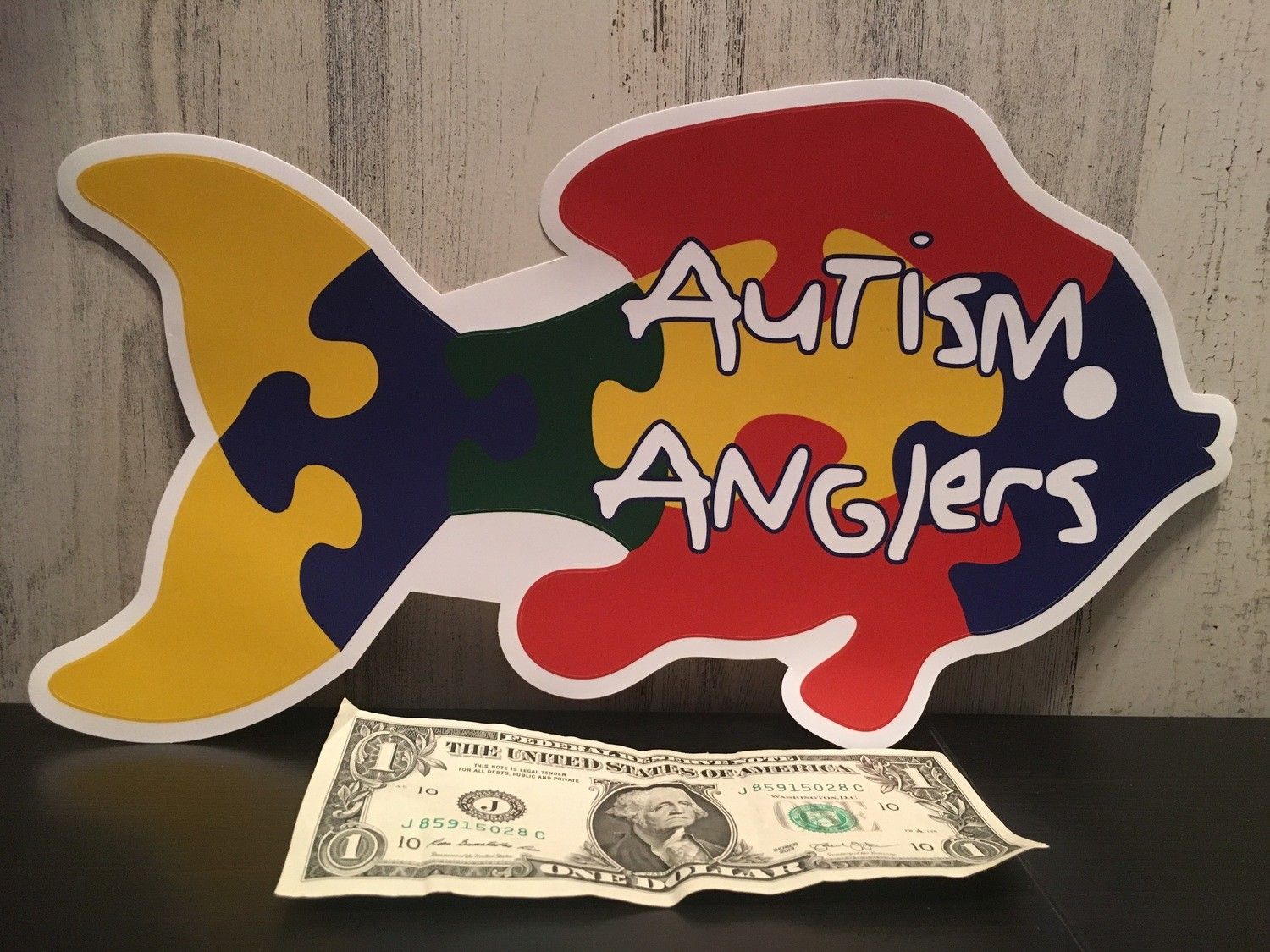 "12"" Autism Anglers Decal"