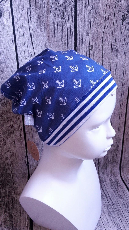Mütze Anker dunkelblau 52/55