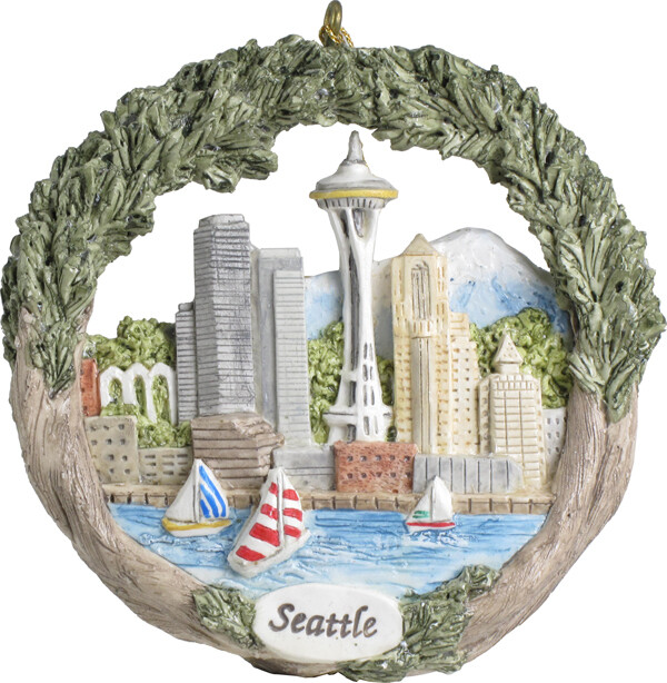 AmeriScape Ornament Seattle, Washington, Harbor and Skyline