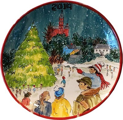 2019 Marblehead Annual Ceramic Plate - Annual Tree Lighting