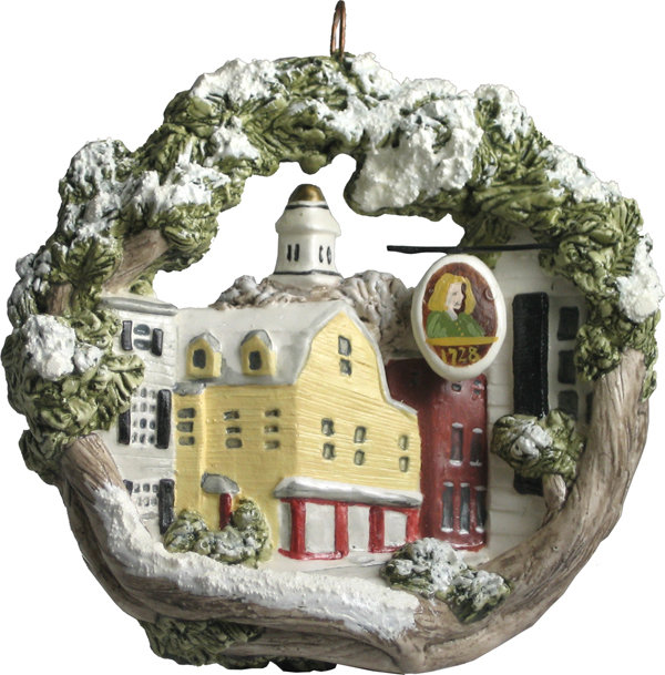 1993 Marblehead Annual Ornament - Washington Street in Winter