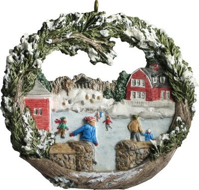 1997 Marblehead Annual Ornament - Ice Skating on Redd's Pond