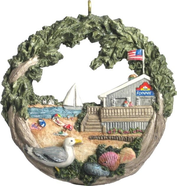 2004 Marblehead Annual Ornament - Flynnies at the Beach MA-MARB-AS-02786SYX04