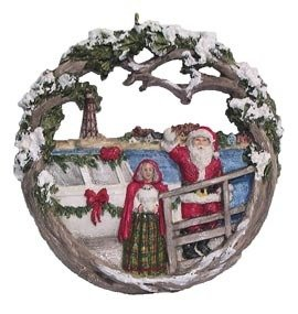 2005 Marblehead Annual Ornament - Lobster Boat Arrival of Santa and Mrs Claus