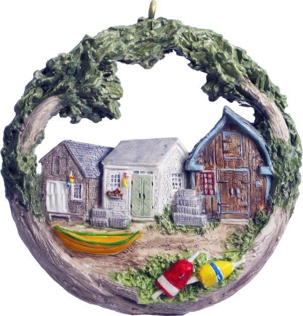 2011 Marblehead Annual Ornament - Fishing Shanties MA-MARB-AS-04395SYX11