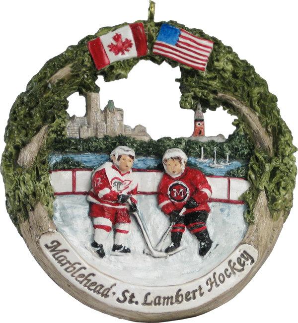 Marblehead AmeriScape - St Lambert Hockey Exchange Ornament MA-MARB-AS-04507WYX13