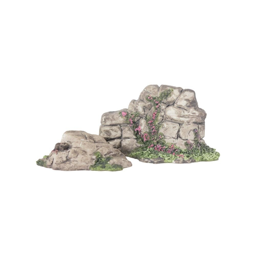 Nativity Accessory - Set of Rocks with Flowers NT-ACCE-ROCKSFLOWERSX