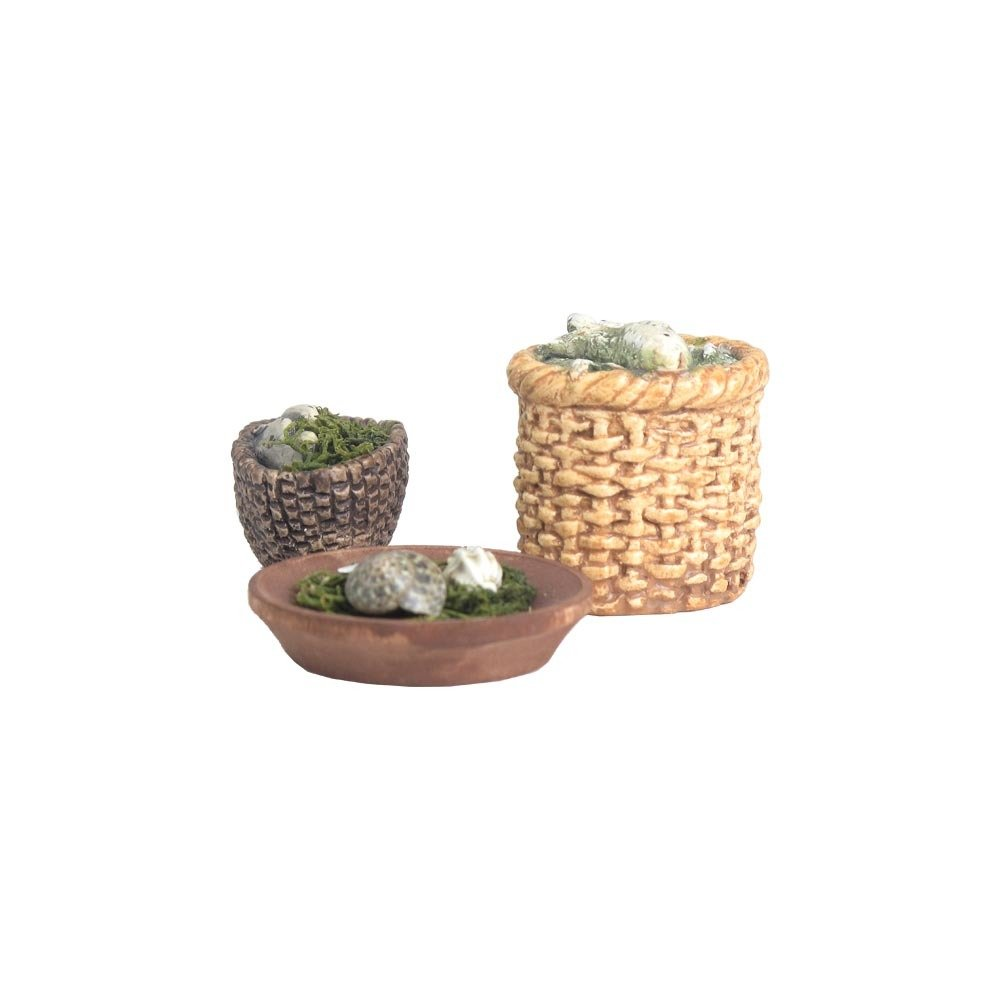 Nativity Accessory  - Fish and Shell Baskets NT-ACCE-FISHSHELLSX10