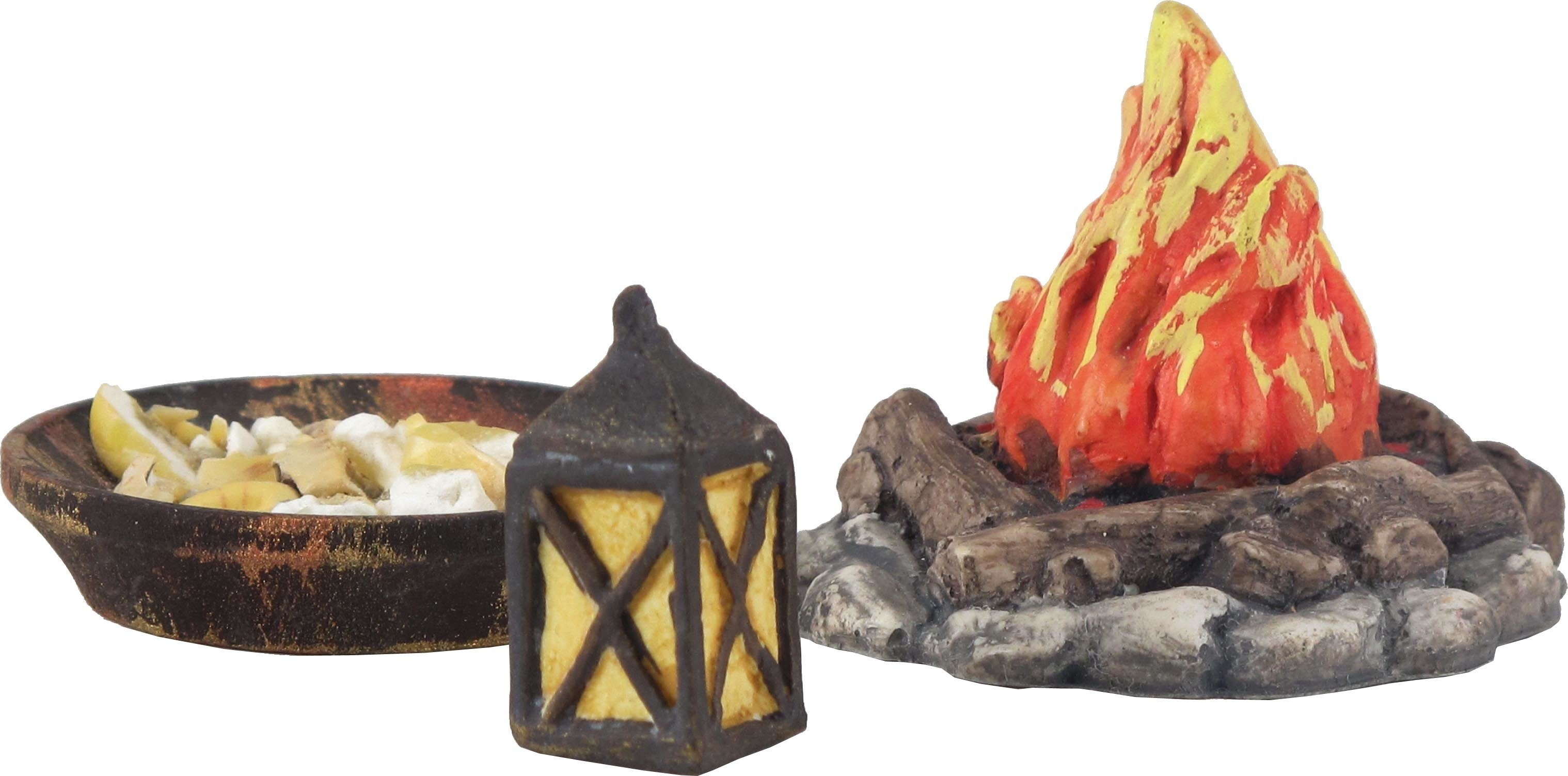 Nativity Accessory Campfire and Lantern