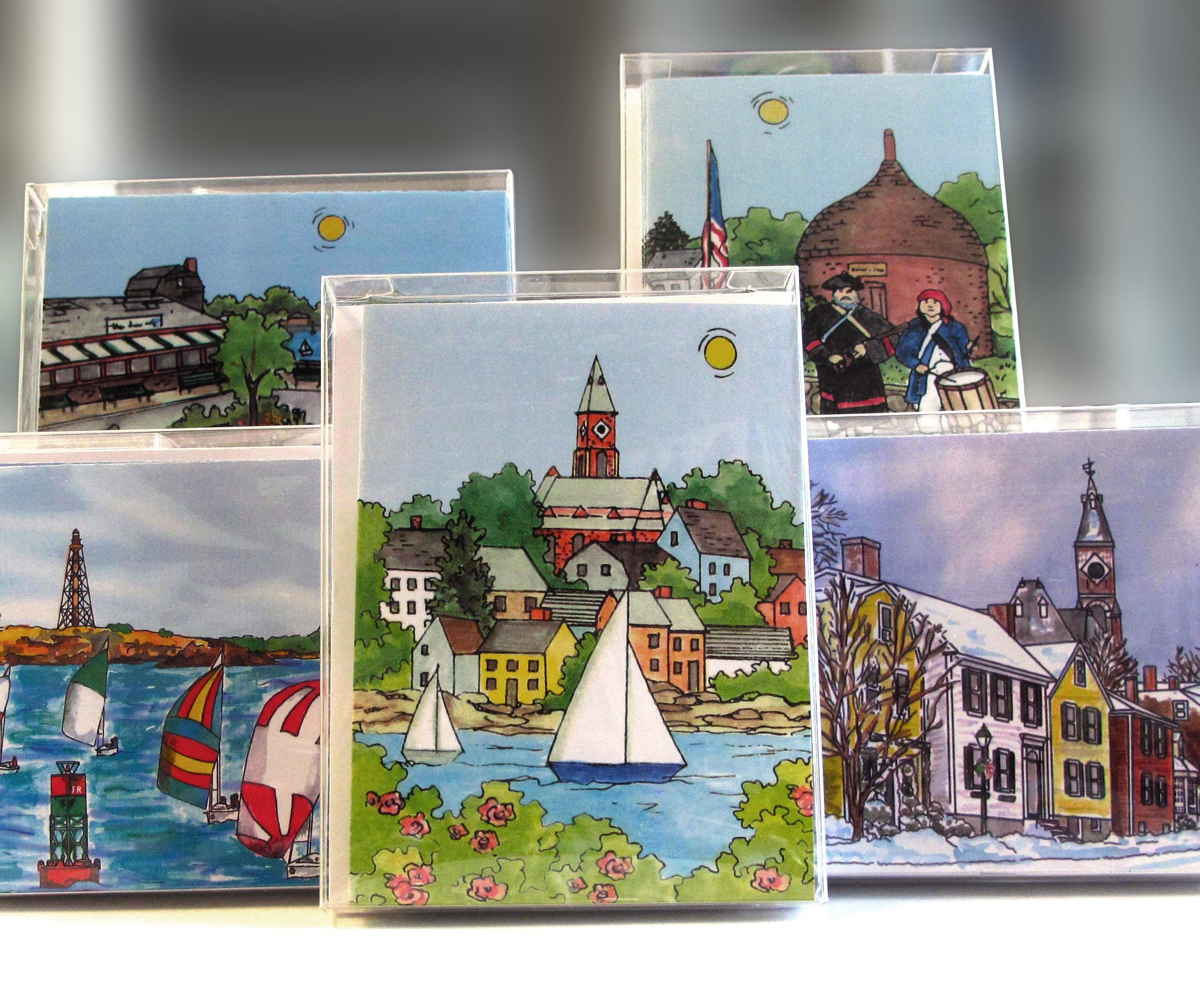 Marblehead Impressions - Notecards MA-MARB-WC-NOTE10BOXX
