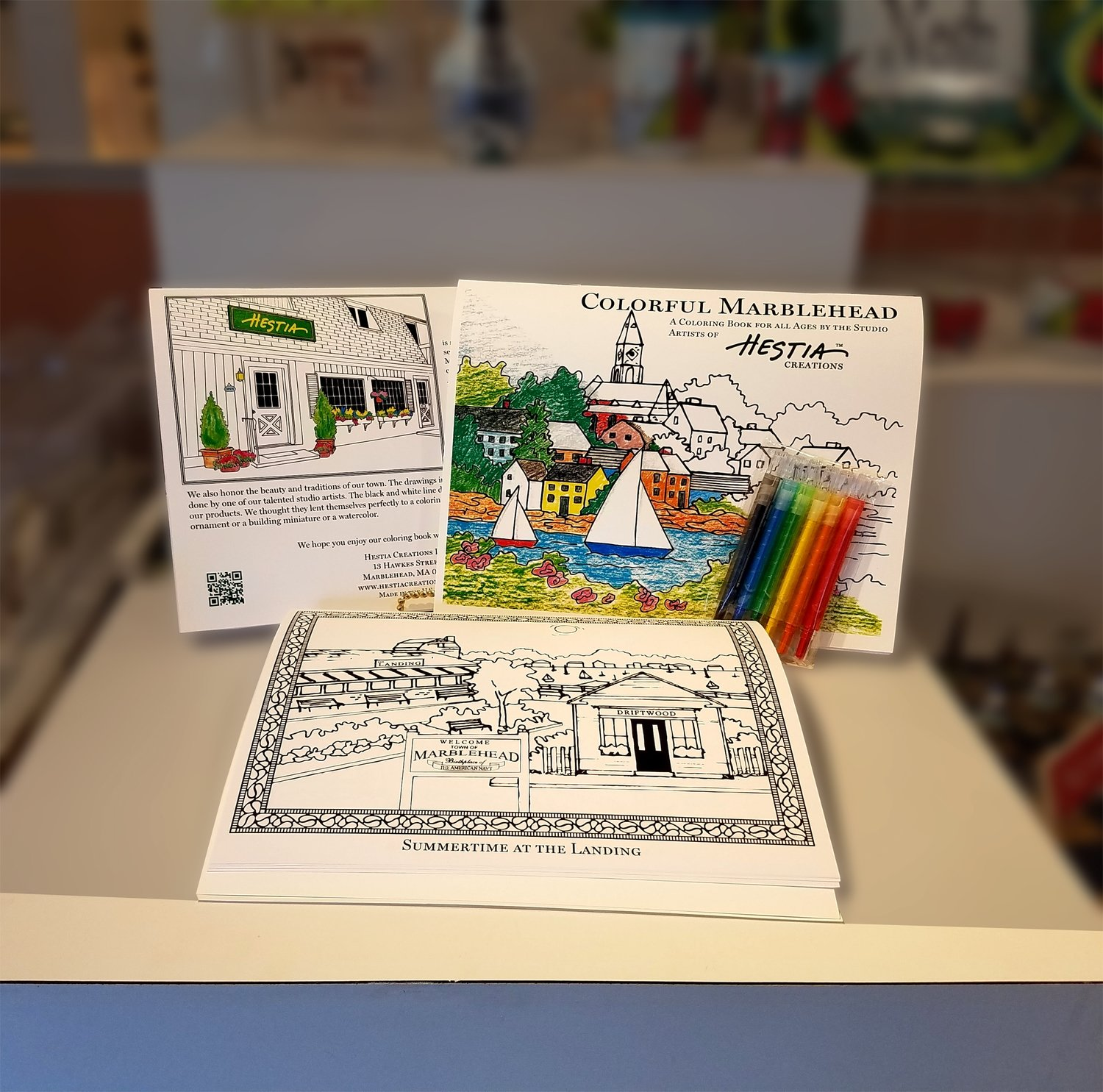 Colorful Marblehead Coloring Book - Designed by our Studio Artists