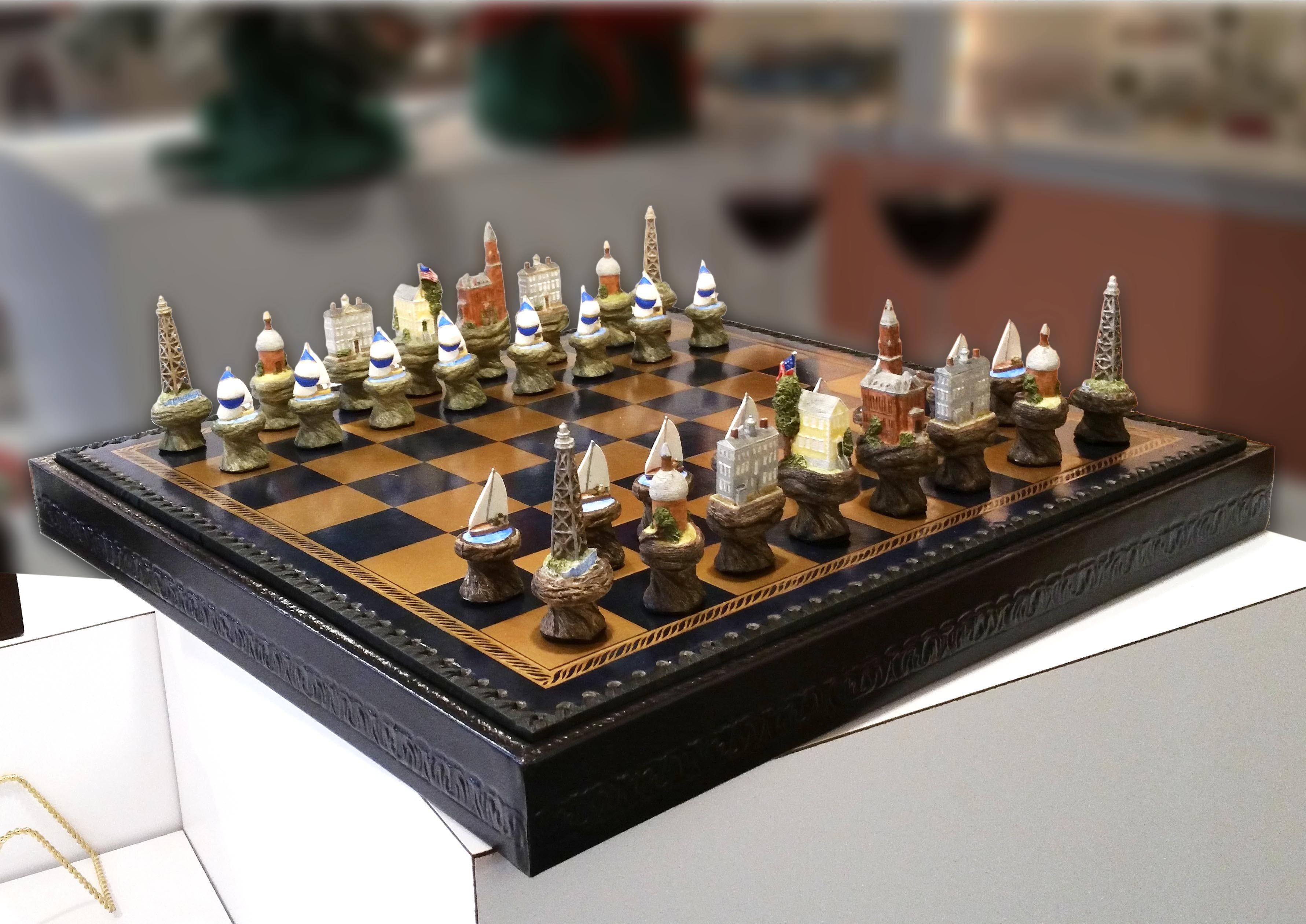 Marblehead Impressions - Chess Set MA-MARB-HI-CHESSSETXX