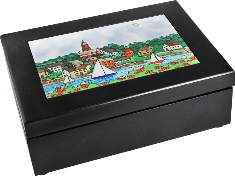 Marblehead Impressions - Walnut Keepsake Box