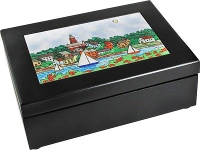 Marblehead Impressions - Walnut Keepsake Box