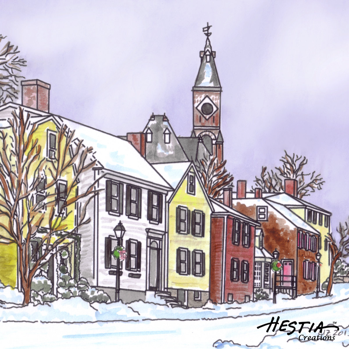 Washington Street in Winter
