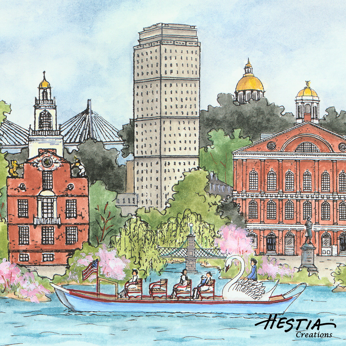 Boston Impressions Coaster Set