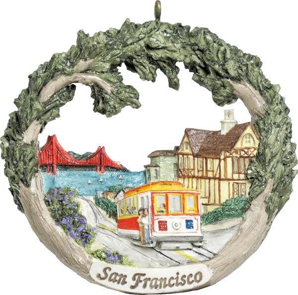 AmeriScape Ornament San Francisco, CA Cable Car CA-SFRA-AS-01404SYXXX