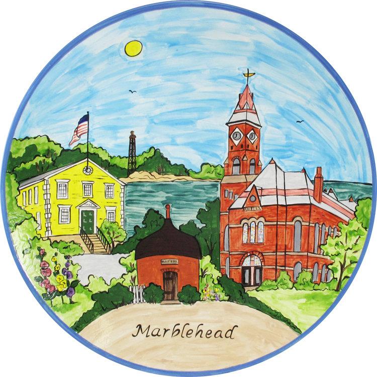 "Marblehead Ceramics  15"" Round Platter MA-MARB-CR-RNDPLTTR15"