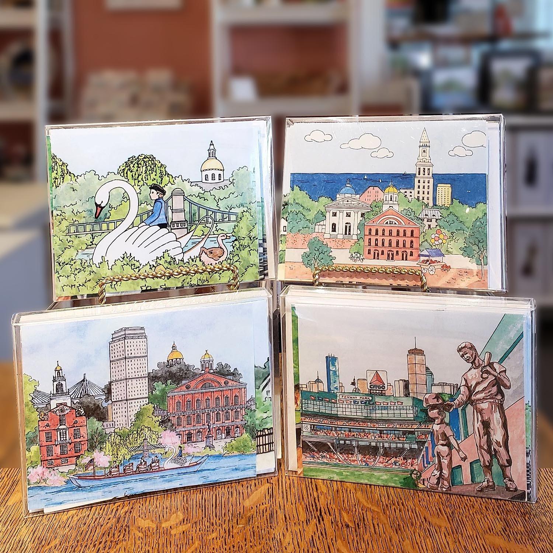 Boston Impressions Notecards Box of 10