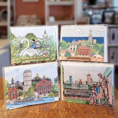 Boston Impressions Notecards Box of 10
